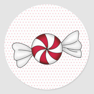 Peppermint Candies Round Sticker
