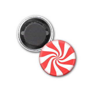 Peppermint Candy ~ 3 Cm Round Magnet