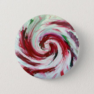 PEPPERMINT CANDY - 6 CM ROUND BADGE