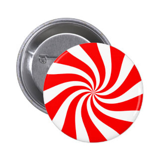 peppermint candy 6 cm round badge