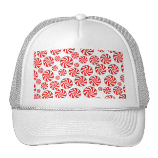 Peppermint Candy Background Trucker Hats
