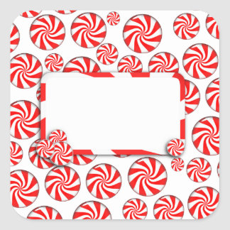 Peppermint Candy Background w/ Removable Tag