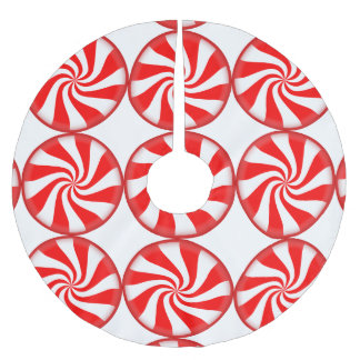 Peppermint Candy Brushed Polyester Tree Skirt