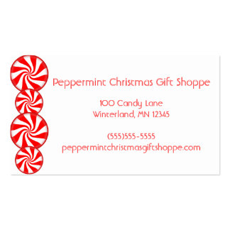 Peppermint Candy Business Cards