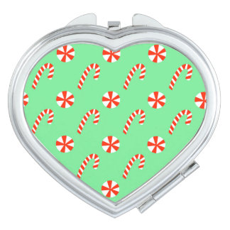 Peppermint Candy Cane Pattern Mirrors For Makeup