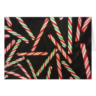 Peppermint Candy Cane Sticks Greeting Card