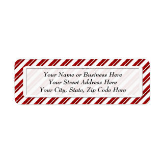 Peppermint Candy Cane Stripe Return Address Labels