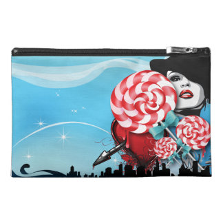 Peppermint Candy Cane Travel Accessory Bag