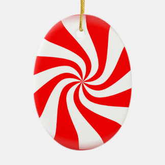Peppermint Candy Ceramic Ornament