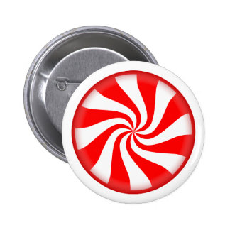 Peppermint Candy Christmas Button