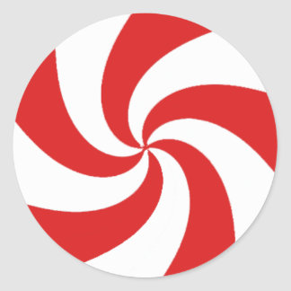 Peppermint Candy Classic Round Sticker