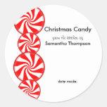 Peppermint Candy Custom Round Sticker