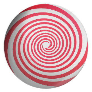 Peppermint Candy Dinner Plate