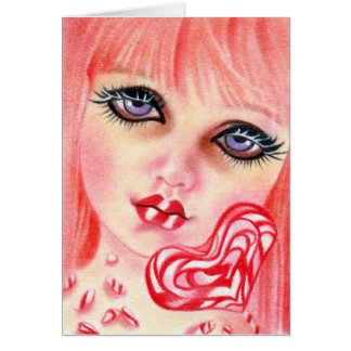 Peppermint Candy Girl Holiday Card