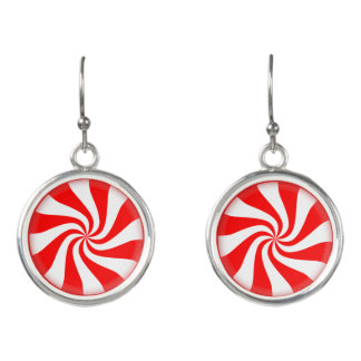 Peppermint Candy Holiday Earrings
