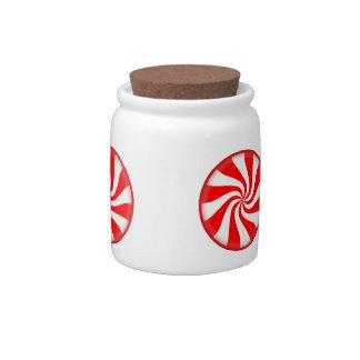 Peppermint Candy Jar