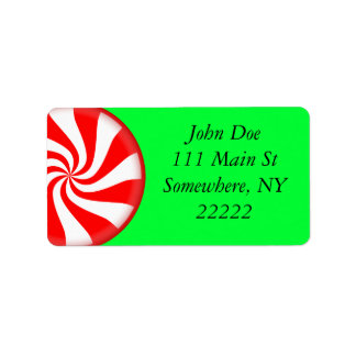 Peppermint Candy Address Label