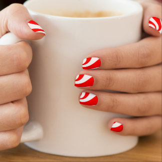 Peppermint Candy Nail Art