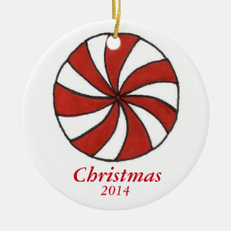 Peppermint Candy Personalized Christmas Ornaments