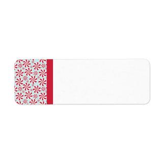 Peppermint Candy Red and Blue Holiday Return Address Label