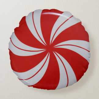 Peppermint Candy Round Cushion