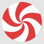 Peppermint Candy Round Stickers