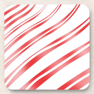 Peppermint Candy Stripe Beverage Coasters