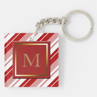 Peppermint Candy Stripe Key Ring