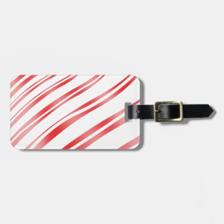 Peppermint Candy Stripe Luggage Tags