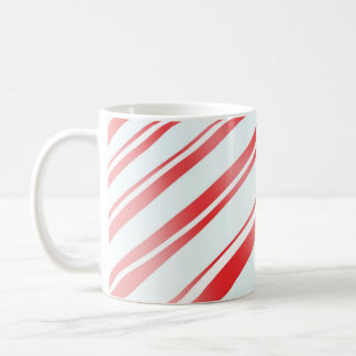 Peppermint Candy Stripe Mugs