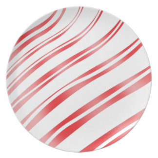 Peppermint Candy Stripe Plate