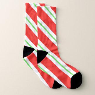 Peppermint Candy Stripes Crew Socks 1