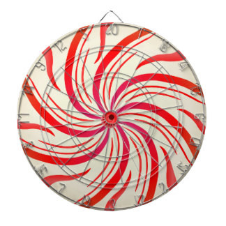 Peppermint Candy Swirl Dart Boards