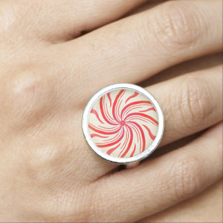 Peppermint Candy Swirl Photo Ring