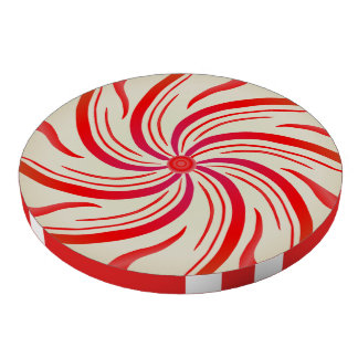 Peppermint Candy Swirl Poker Chips
