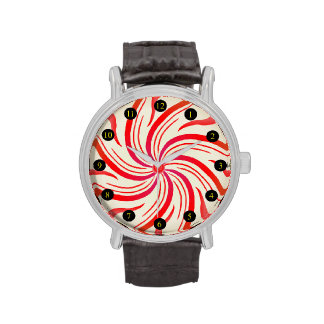 Peppermint Candy Swirl Wristwatch