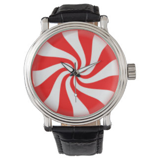 Peppermint Candy Swirl Wristwatch