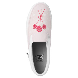 Peppermint Christmas Candy Slip-On Shoes