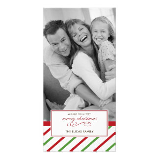 Peppermint Christmas Card Photo Cards