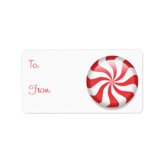 Peppermint Christmas gift tags