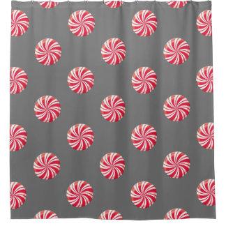 Peppermint Christmas Shower Curtain