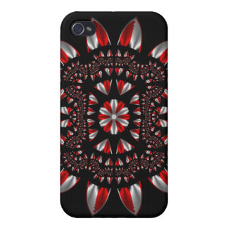 Peppermint Fractal iPhone 4 Cover