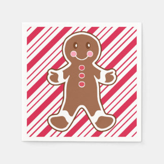 Peppermint Gingerbread Boy Napkins Disposable Serviette