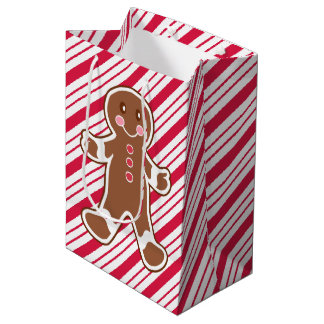 Peppermint Gingerbread Christmas Gift Bag