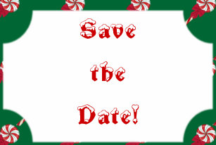 Christmas Save The Date Clipart.Party Dates Christmas Postcards Save The Save The Date Cards