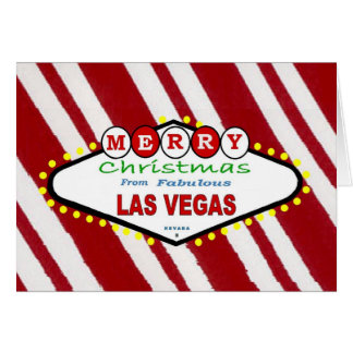 Peppermint Merry Christmas from Las VegasCard Greeting Cards