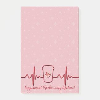 Peppermint Mocha Lifeline 4x6 Post-it Notes