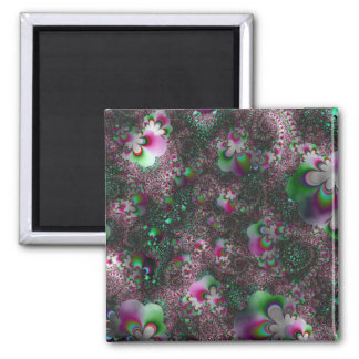 """""""Peppermint Paisley Fantasy"""" ~ Abstract Art Print Magnet"""
