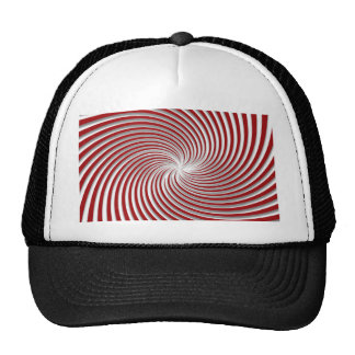 Peppermint Red Swirl and Shadow Mesh Hat