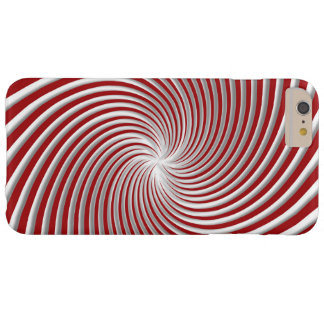 Peppermint Red Swirl and Shadow Case